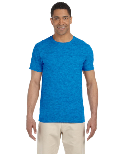 Heather Royal SoftStyle T as seen from the front