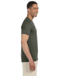 Hthr Military Green SoftStyle T as seen from the sleeveleft