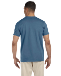 Indigo Blue SoftStyle T as seen from the back