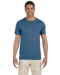 Indigo Blue SoftStyle T as seen from the front