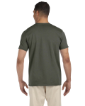 Military Green SoftStyle T as seen from the back