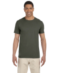 Military Green SoftStyle T as seen from the front