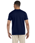 Navy SoftStyle T as seen from the back