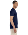 Navy SoftStyle T as seen from the sleeveleft