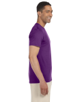 Purple SoftStyle T as seen from the sleeveleft