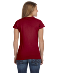 Antque Cherry Red Ladies' 4.5 oz. SoftStyle Junior Fit T-Shirt as seen from the back