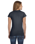 Charcoal Ladies' 4.5 oz. SoftStyle Junior Fit T-Shirt as seen from the back