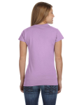 Orchid Ladies' 4.5 oz. SoftStyle Junior Fit T-Shirt as seen from the back