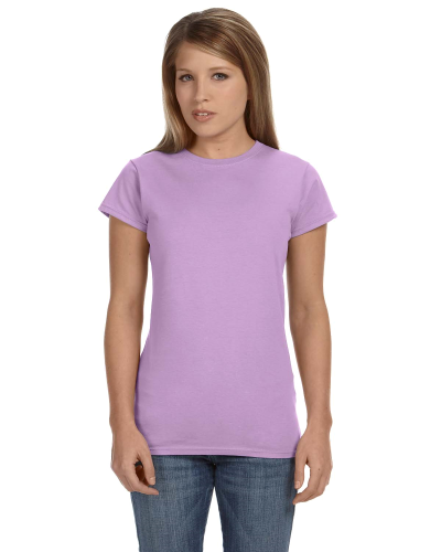 Orchid Ladies' 4.5 oz. SoftStyle Junior Fit T-Shirt as seen from the front
