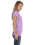 Orchid Ladies' 4.5 oz. SoftStyle Junior Fit T-Shirt as seen from the sleeveleft
