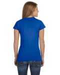 Royal Ladies' 4.5 oz. SoftStyle Junior Fit T-Shirt as seen from the back
