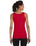 Cherry Red Softstyle® Ladies' 4.5 oz. Junior Fit Tank as seen from the back