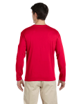 Cherry Red 4.5 oz. SoftStyle Long-Sleeve T-Shirt as seen from the back
