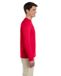 Cherry Red 4.5 oz. SoftStyle Long-Sleeve T-Shirt as seen from the sleeveleft