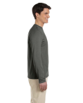 Military Green 4.5 oz. SoftStyle Long-Sleeve T-Shirt as seen from the sleeveleft