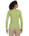 Kiwi Ladies' 4.5 oz. SoftStyle Junior Fit Long-Sleeve T-Shirt as seen from the back