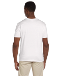 White Softstyle® 4.5 oz. V-Neck T-Shirt as seen from the back
