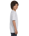 Ash Grey Youth DryBlend 5.6 oz., 50/50 T-Shirt as seen from the sleeveleft