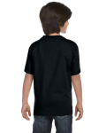 Black Youth DryBlend 5.6 oz., 50/50 T-Shirt as seen from the back