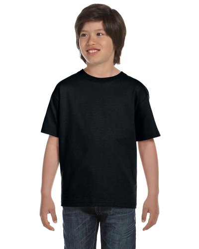 Black Youth DryBlend 5.6 oz., 50/50 T-Shirt as seen from the front
