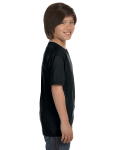 Black Youth DryBlend 5.6 oz., 50/50 T-Shirt as seen from the sleeveleft