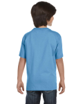 Carolina Blue Youth DryBlend 5.6 oz., 50/50 T-Shirt as seen from the back
