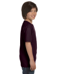 Dark Chocolate Youth DryBlend 5.6 oz., 50/50 T-Shirt as seen from the sleeveleft