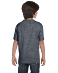 Dark Heather Youth DryBlend 5.6 oz., 50/50 T-Shirt as seen from the back
