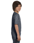 Dark Heather Youth DryBlend 5.6 oz., 50/50 T-Shirt as seen from the sleeveleft