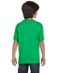Electric Green Youth DryBlend 5.6 oz., 50/50 T-Shirt as seen from the back