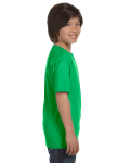 Electric Green Youth DryBlend 5.6 oz., 50/50 T-Shirt as seen from the sleeveleft