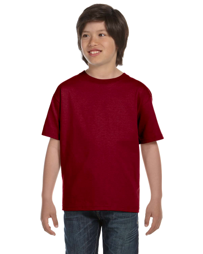 Garnet Youth DryBlend 5.6 oz., 50/50 T-Shirt as seen from the front