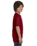 Garnet Youth DryBlend 5.6 oz., 50/50 T-Shirt as seen from the sleeveleft