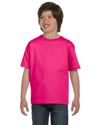 Heliconia Youth DryBlend 5.6 oz., 50/50 T-Shirt as seen from the front