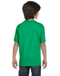 Irish Green Youth DryBlend 5.6 oz., 50/50 T-Shirt as seen from the back