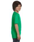 Irish Green Youth DryBlend 5.6 oz., 50/50 T-Shirt as seen from the sleeveleft