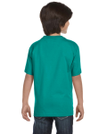 Jade Dome Youth DryBlend 5.6 oz., 50/50 T-Shirt as seen from the back