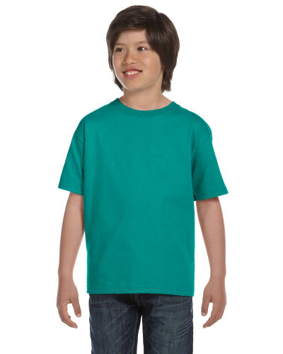 Jade Dome Youth DryBlend 5.6 oz., 50/50 T-Shirt as seen from the front