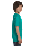 Jade Dome Youth DryBlend 5.6 oz., 50/50 T-Shirt as seen from the sleeveleft
