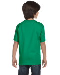 Kelly Green Youth DryBlend 5.6 oz., 50/50 T-Shirt as seen from the back