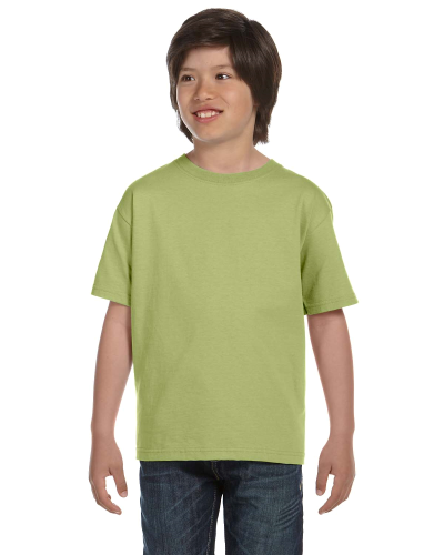 Kiwi Youth DryBlend 5.6 oz., 50/50 T-Shirt as seen from the front