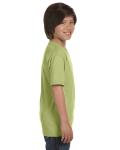 Kiwi Youth DryBlend 5.6 oz., 50/50 T-Shirt as seen from the sleeveleft
