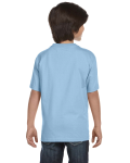 Light Blue Youth DryBlend 5.6 oz., 50/50 T-Shirt as seen from the back