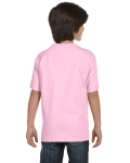 Light Pink Youth DryBlend 5.6 oz., 50/50 T-Shirt as seen from the back