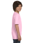 Light Pink Youth DryBlend 5.6 oz., 50/50 T-Shirt as seen from the sleeveleft