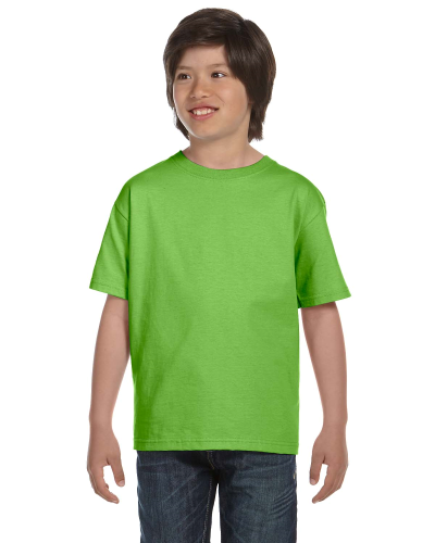 Lime Youth DryBlend 5.6 oz., 50/50 T-Shirt as seen from the front