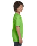 Lime Youth DryBlend 5.6 oz., 50/50 T-Shirt as seen from the sleeveleft