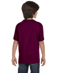 Maroon Youth DryBlend 5.6 oz., 50/50 T-Shirt as seen from the back