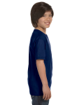 Navy Youth DryBlend 5.6 oz., 50/50 T-Shirt as seen from the sleeveleft