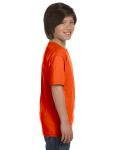 Orange Youth DryBlend 5.6 oz., 50/50 T-Shirt as seen from the sleeveleft